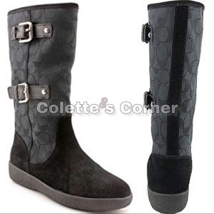 NWOT Coach Tinah Cold Weather Black Boots W/
